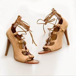 Tory Burch Suede Jakey Caged Gladiator Heels